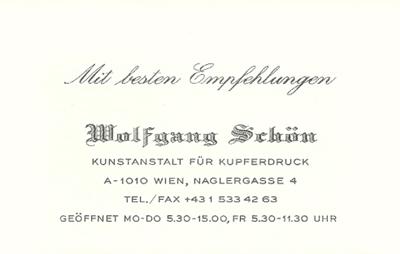 Kunstanstalt Für Kupferdruck Hobl Sohn Faszination In Papier